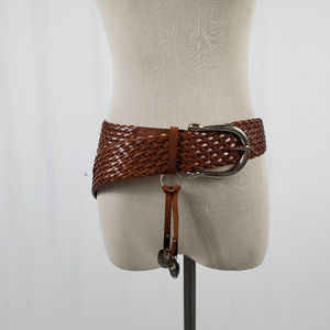 Michael Kors Genuine Braided Leather Belt Size L